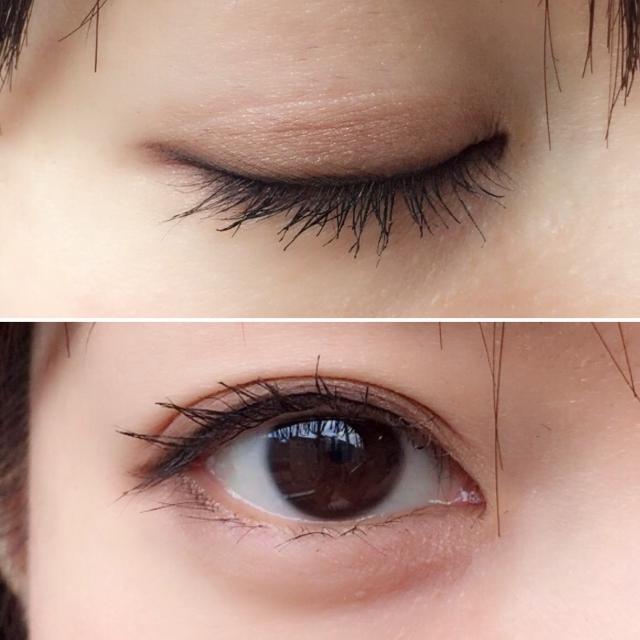 閉じた目と開いた目の比較
